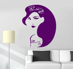 Vinyl Wall Decal Woman Hair Style Beauty Salon Stickers Unique Gift (ig421)