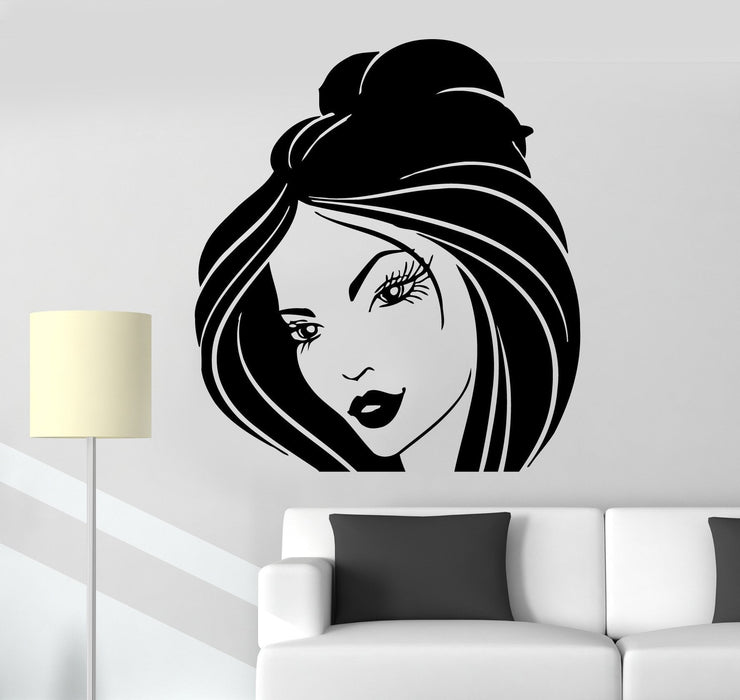 Wall Stickers Vinyl Decal Cute Girl Beautiful Hairdress Beauty Salon Unique Gift (ig434)