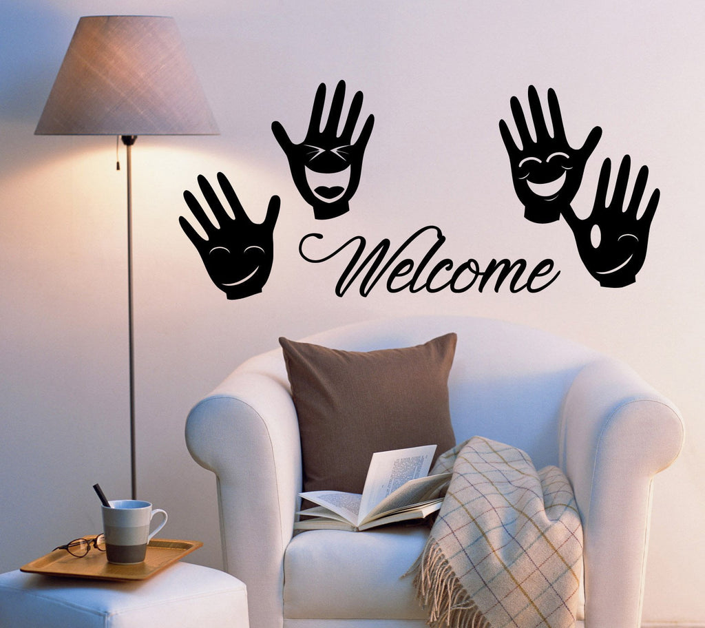 Vinyl Wall Decal Stickers Welcome Home Decor Words ...