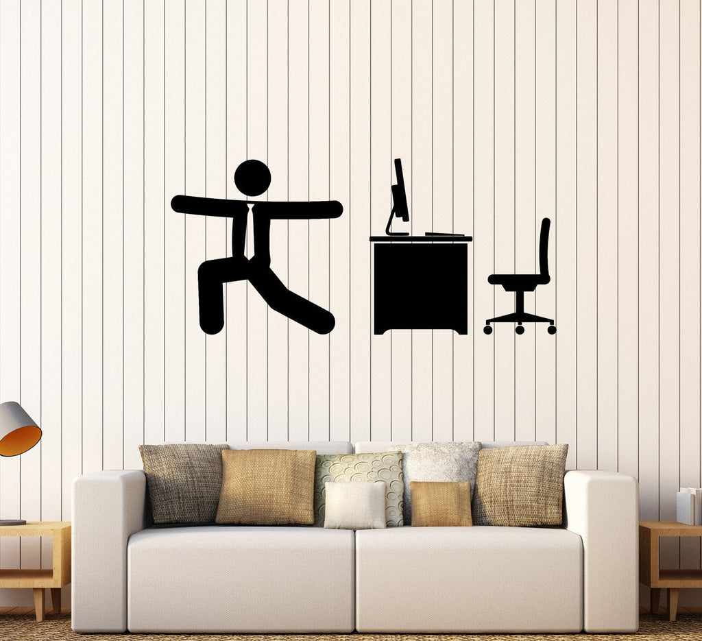 wall decal for office. Vinyl Wall Decal Office Work Warm-Up Gymnastics Sports Decor Unique Gift  (264ig) Wall Decal For Office