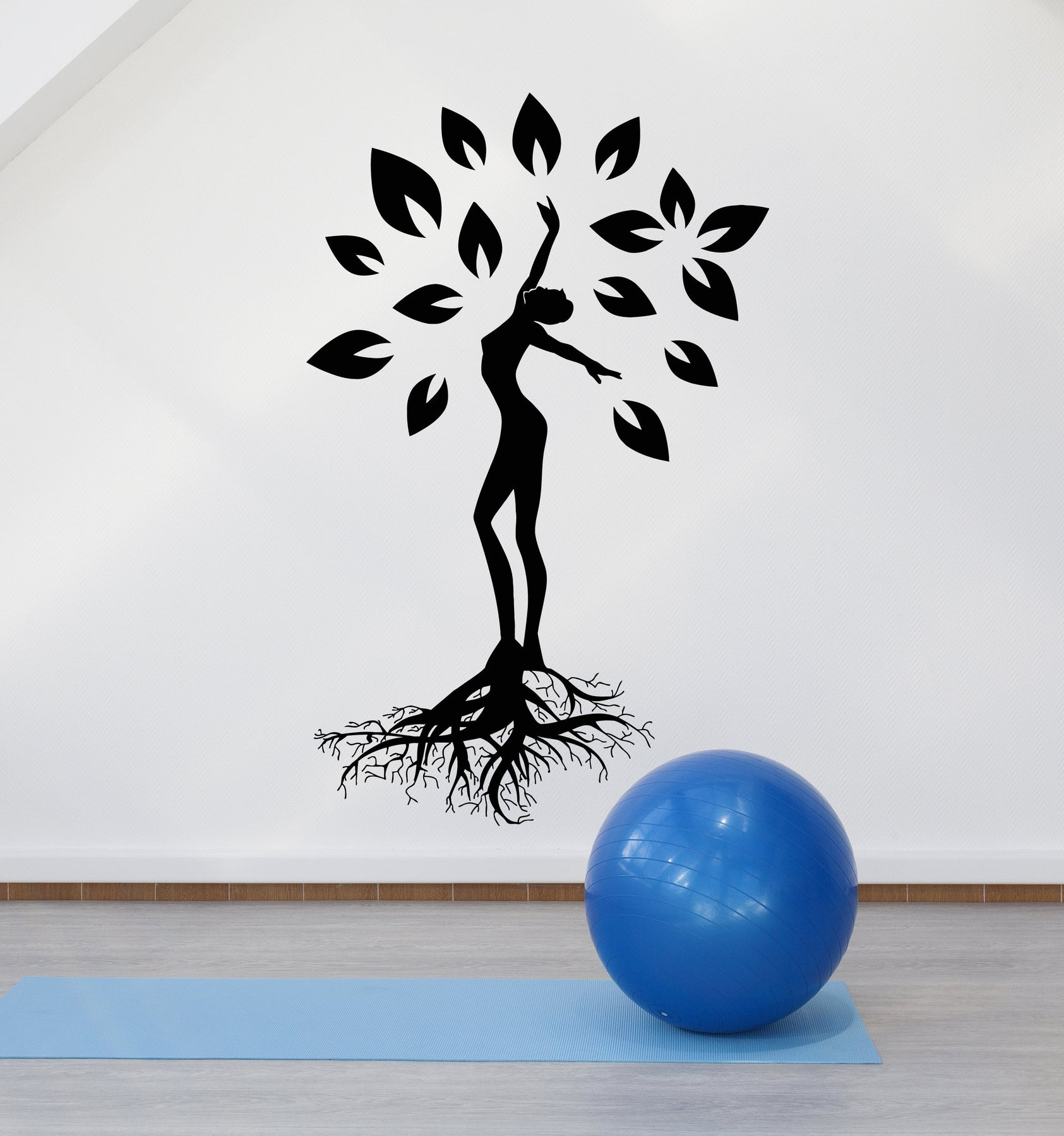 2486ig Details about  /Vinyl Wall Decal Nature Yoga Meditation Pose Beauty Health Stickers