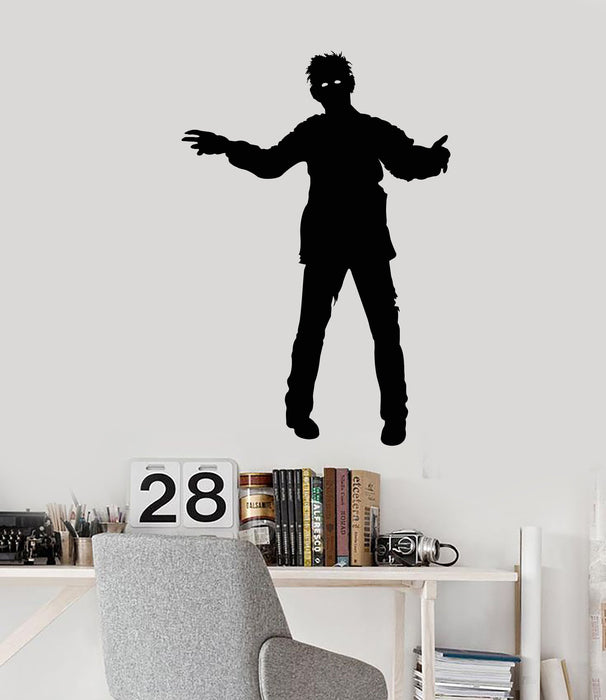 Vinyl Wall Decal Zombie Man Monster Movie Horror Stickers
