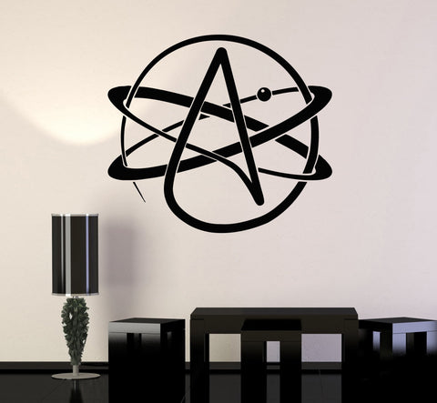 Wall Sticker Vinyl Decal Atom Atheism Religion Science Great Decor (ig1714)