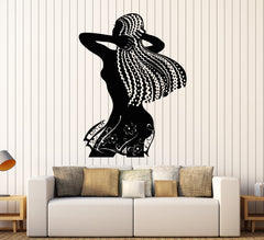 Vinyl Wall Decal African Woman Ethnic Decor Africa Style Stickers Unique Gift (ig3848)