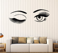 Vinyl Wall Decal Beautiful Eyes Bedroom Decor Beauty Salon Stickers Unique Gift (ig3989)