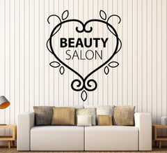 Vinyl Wall Decal Beauty Salon Logo Pattern Spa Woman Stickers Unique Gift (ig3999)