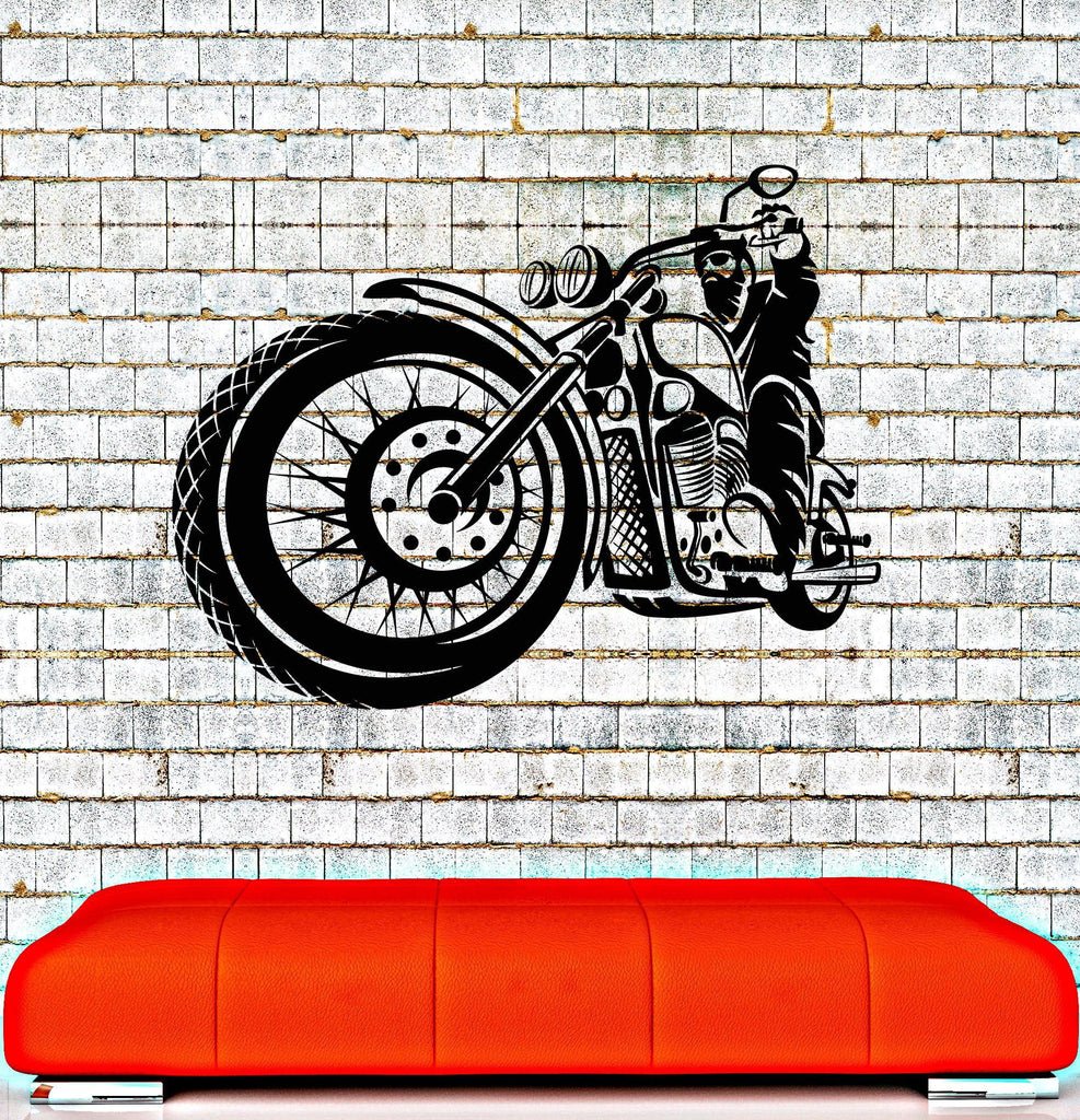 Vinyl Wall Decal Biker Club Motorcycle Racer Garage Stickers Unique Gift (ig4218)  sc 1 st  Wallstickers4you & Vinyl Wall Decal Biker Club Motorcycle Racer Garage Stickers Unique ...