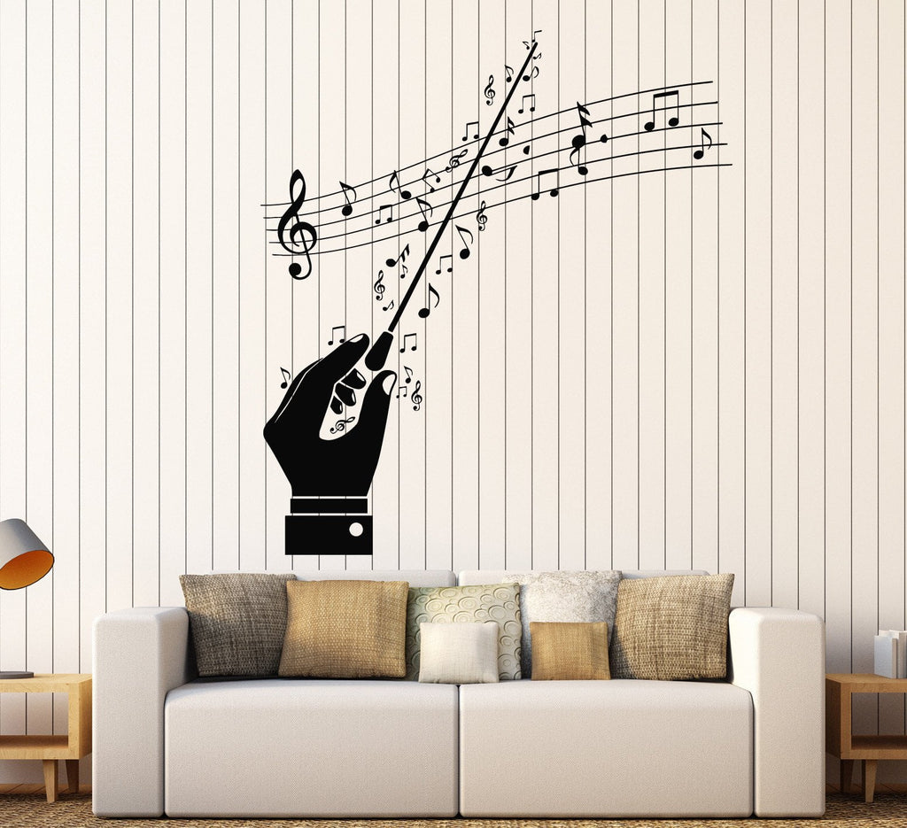 vinyl wall decal conductor maestro musical notes orchestra vinyl wall decal conductor maestro musical notes orchestra stickers ig4543