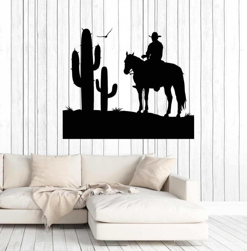 Vinyl Wall Decal Cowboy Wild West Cactus Boy Room Stickers Decor Unique Gift (ig4766)  sc 1 st  Wallstickers4you & Vinyl Wall Decal Cowboy Wild West Cactus Boy Room Stickers Decor ...