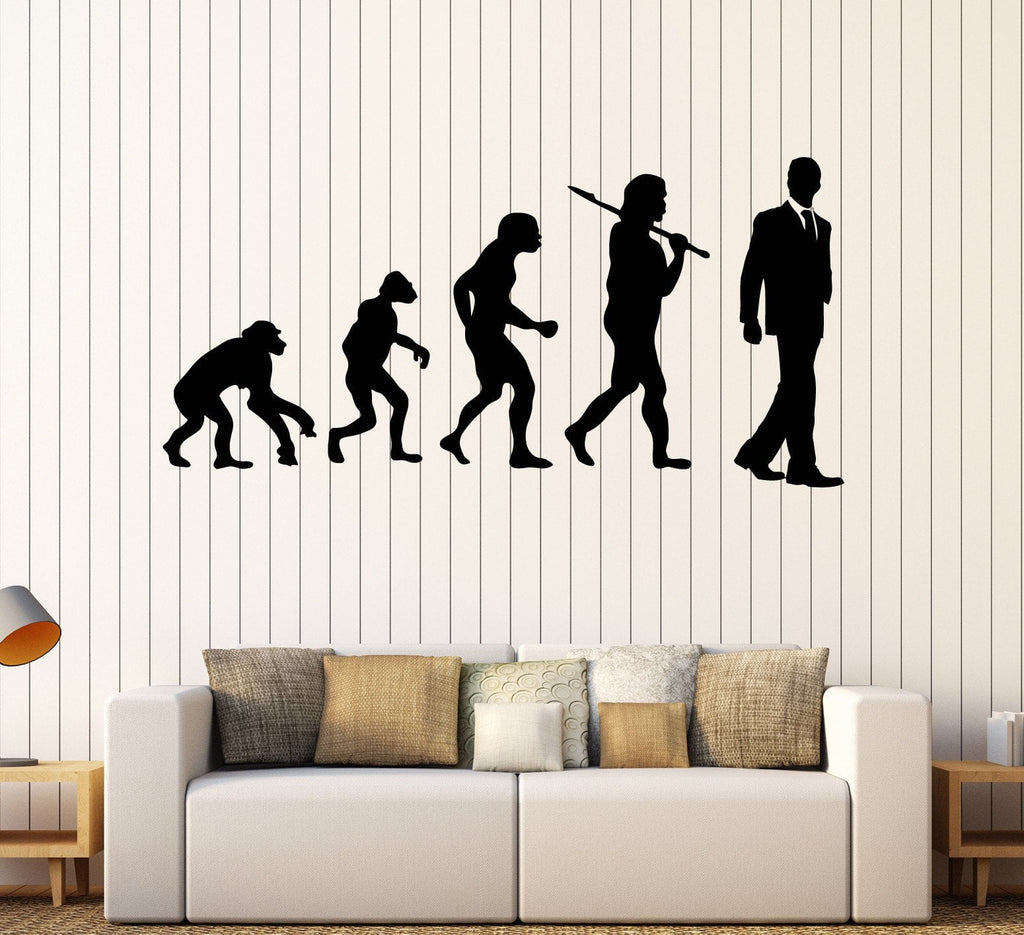 Vinyl wall decal evolution office worker art decoration stickers vinyl wall decal evolution office worker art decoration stickers unique gift ig4389 amipublicfo Choice Image