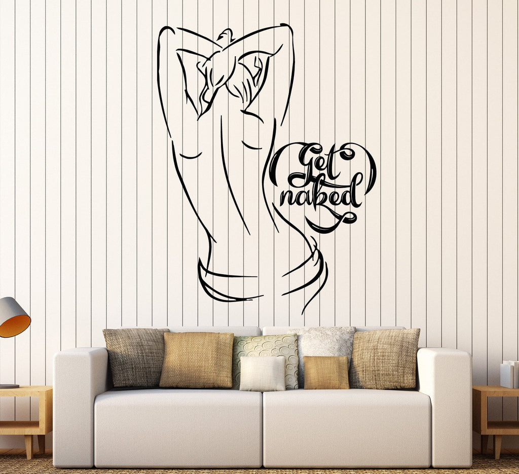 Vinyl Wall Decal Get Naked Woman Bathroom Bedroom Decor Stickers Unique  Gift (ig4637)
