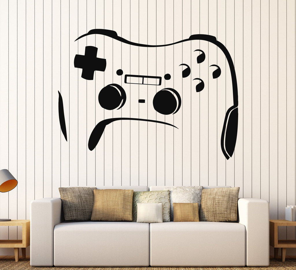 Vinyl Wall Decal Gamepad Joystick Video Game Gaming Stickers (ig4011)