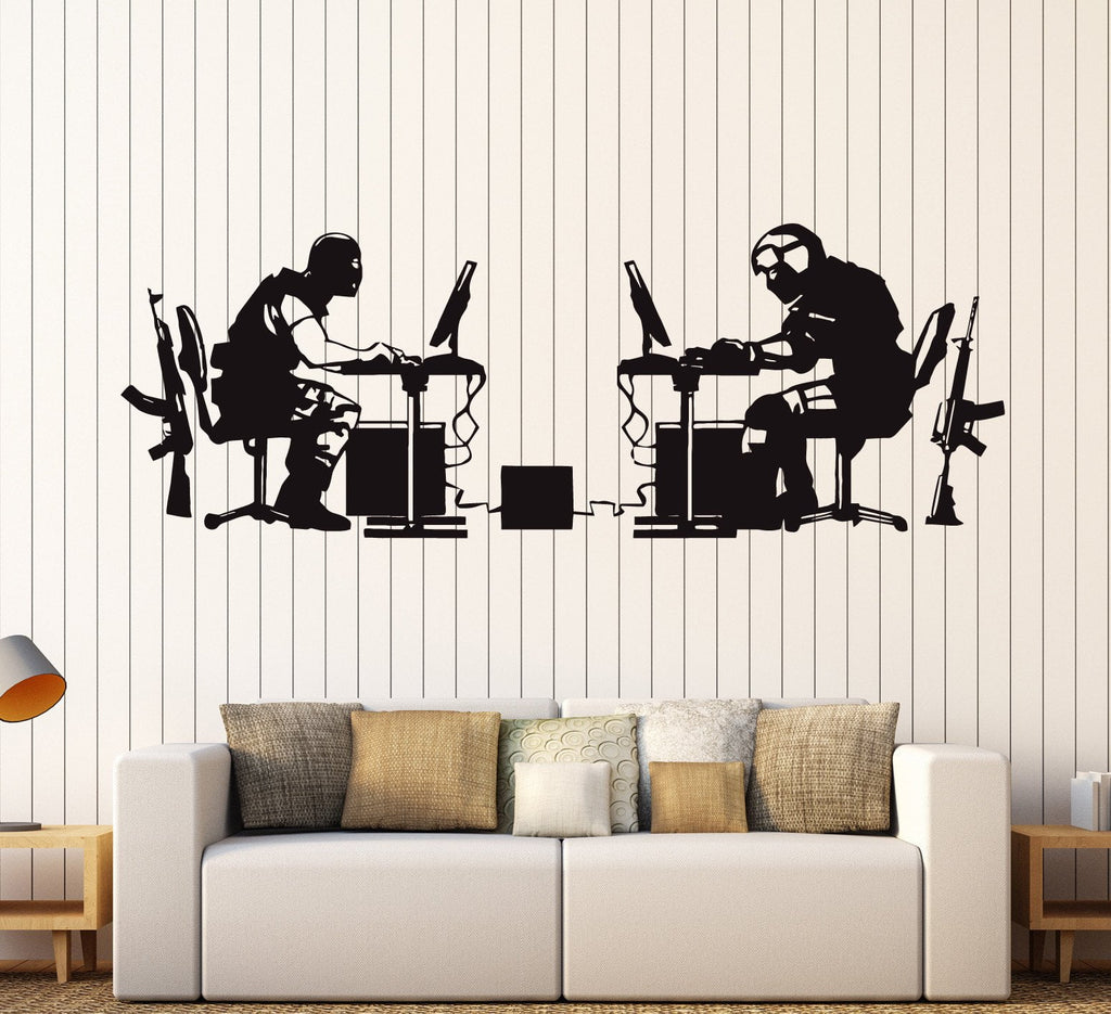 Vinyl Wall Decal Gamer Battle Video Game Gaming Stickers Unique Gift  (ig3859)