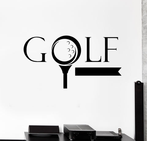 wall sticker vinyl decal golf word golfer sports game nice decor fans unique gift ig2104