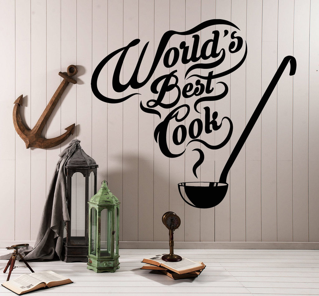 Vinyl Wall Decal Kitchen Quote Restaurant Chef Cook Stickers Unique Gift  (ig4178)