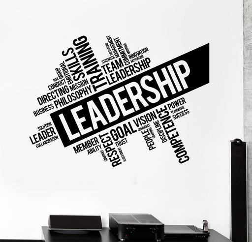 Vinyl Wall Decal Leadership Words Cloud Teamwork Success Stickers Unique Gift (ig4495)