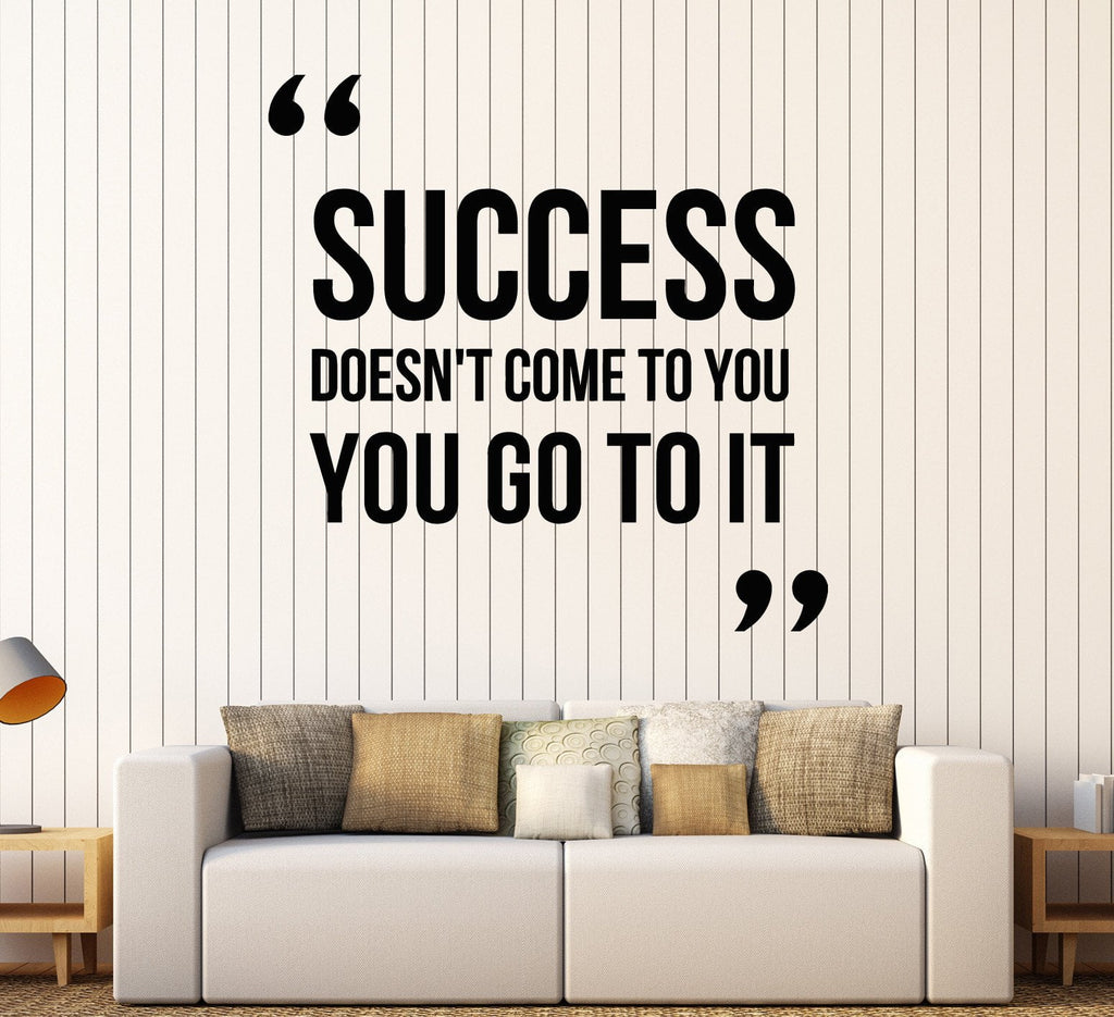 Vinyl Wall Decal Motivation Quote Success Office Inspire Stickers - Wall decals motivational quotes