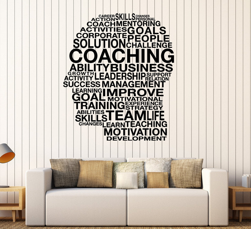 inspiring office decor. Vinyl Wall Decal Words Coaching Skills Office Inspired Decor Stickers Unique Gift (ig4404) Inspiring