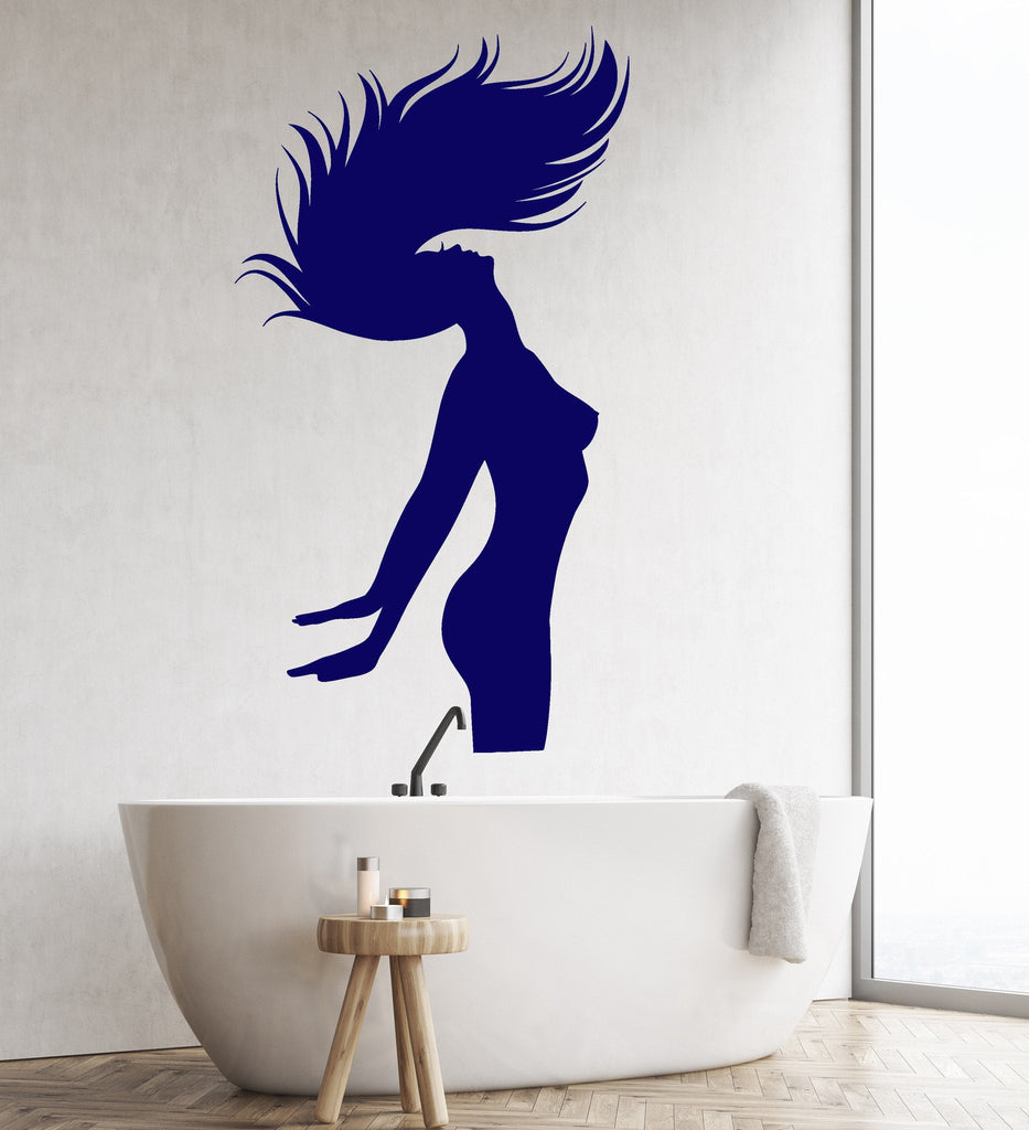 Vinyl Wall Decal Silhouette Naked Woman Bedroom Bathroom Decor Stickers Unique Gift Ig4714