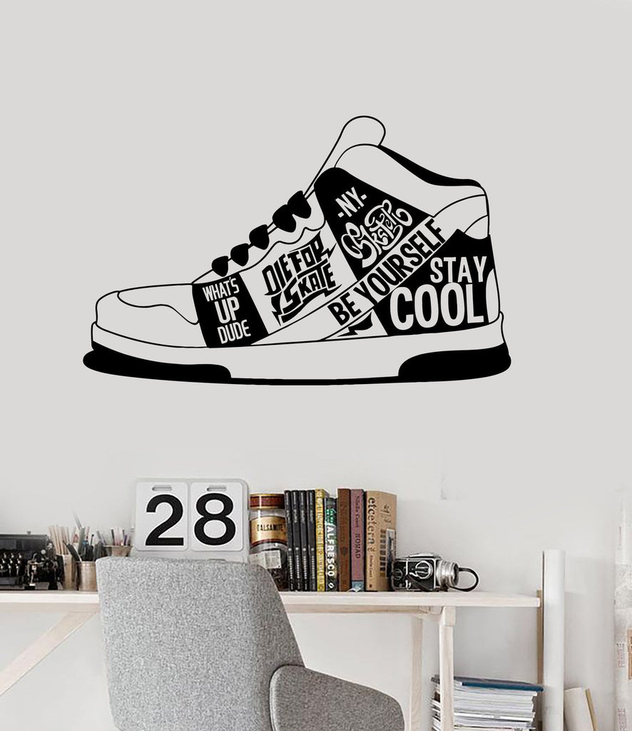 Vinyl Wall Decal Sneakers Urban Style Quote Teen Room Stickers (ig4554) Part 42