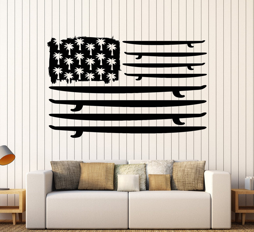 Vinyl wall decal surfing surfboard flag palms ocean surf stickers vinyl wall decal surfing surfboard flag palms ocean surf stickers unique gift ig3790 amipublicfo Gallery