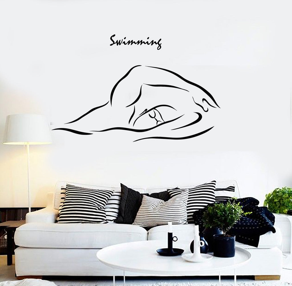 Wall stickers and decals buy online wall decorations at cool vinyl wall decal swimming swim swimmer water sports stickers unique gift ig4537 amipublicfo Choice Image