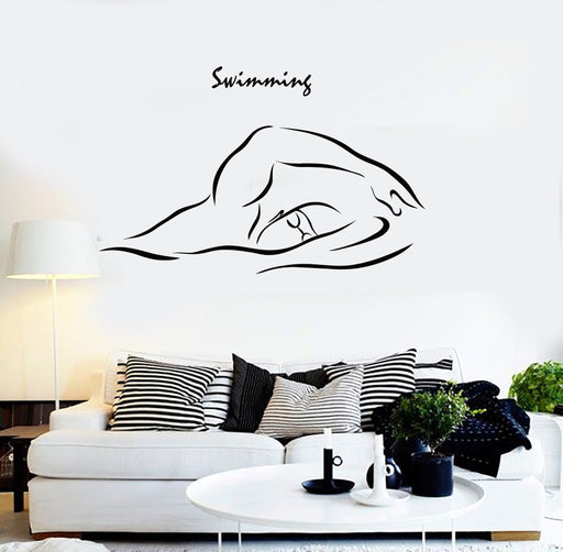 Cool Vinyl Wall Decal Swimming Swim Swimmer Water Sports Stickers Unique Gift (ig4537)
