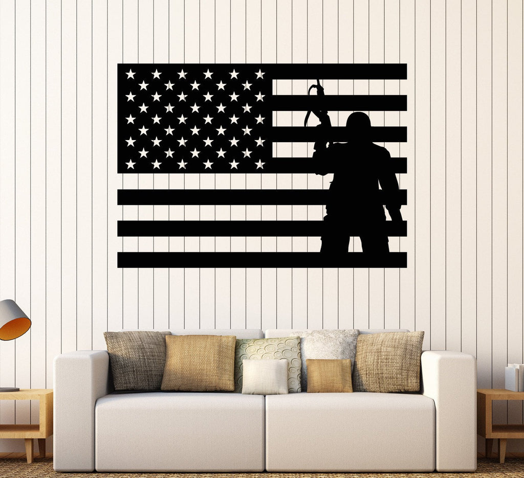 Vinyl wall decal usa flag soldier patriotic military art stickers vinyl wall decal usa flag soldier patriotic military art stickers unique gift ig4093 amipublicfo Choice Image