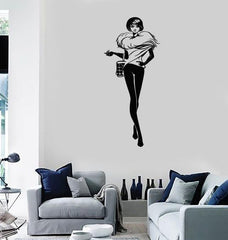 Vinyl Decal Fashion Girl Room Style Shopping Woman Wall Stickers Unique Gift (ig2954)
