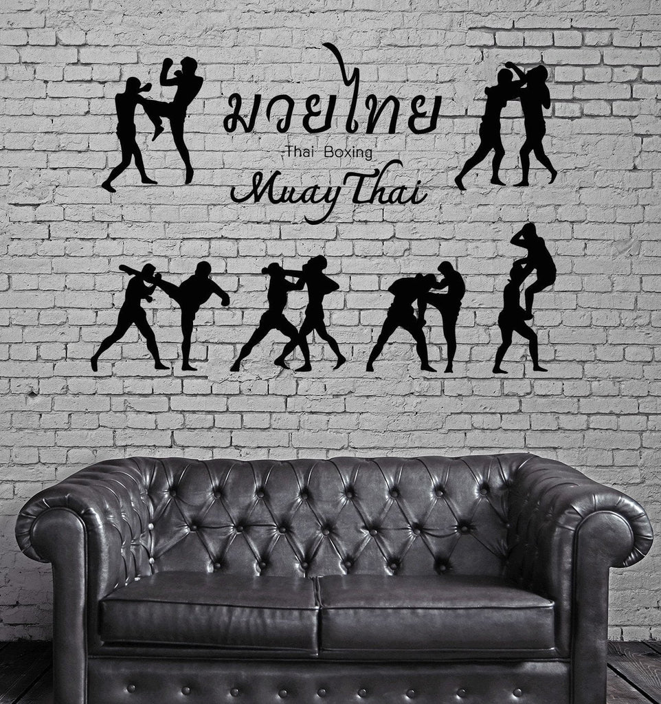 Thai Boxing Vinyl Decal Martial Arts Sport Muay Thai Drink Wall Sticker Unique Gift (ig2317)