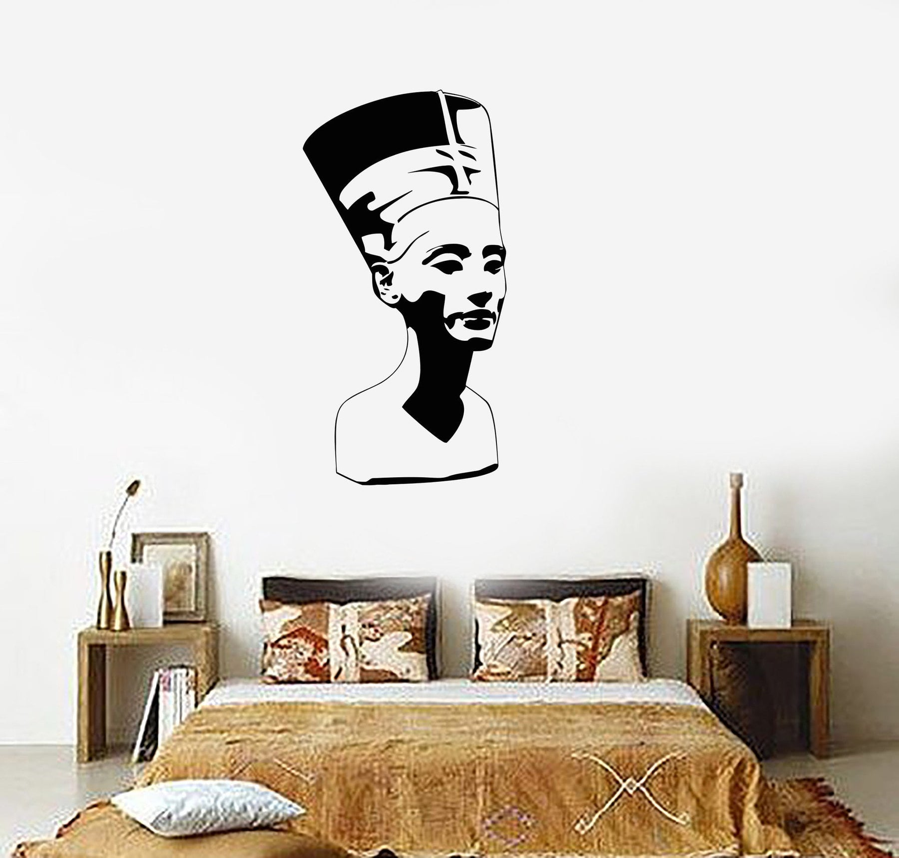 Wall Stickers Nefertiti Egypt Pharaoh Statue Ancient Culture Vinyl Decal Unique Gift (ig2357)