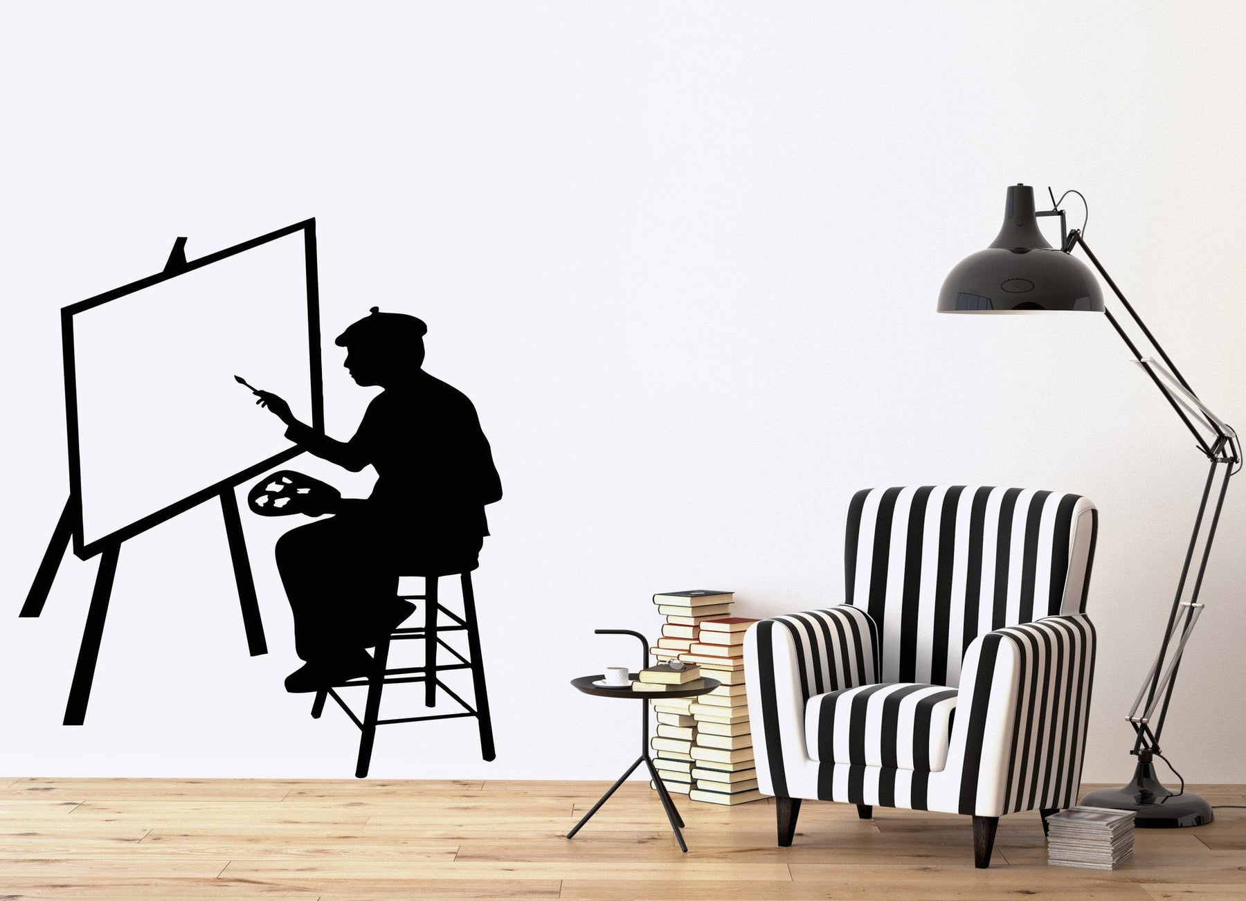 Vinyl Decal Artist Visual Arts Painting Museum Room Decoration Unique Gift (ig2653)