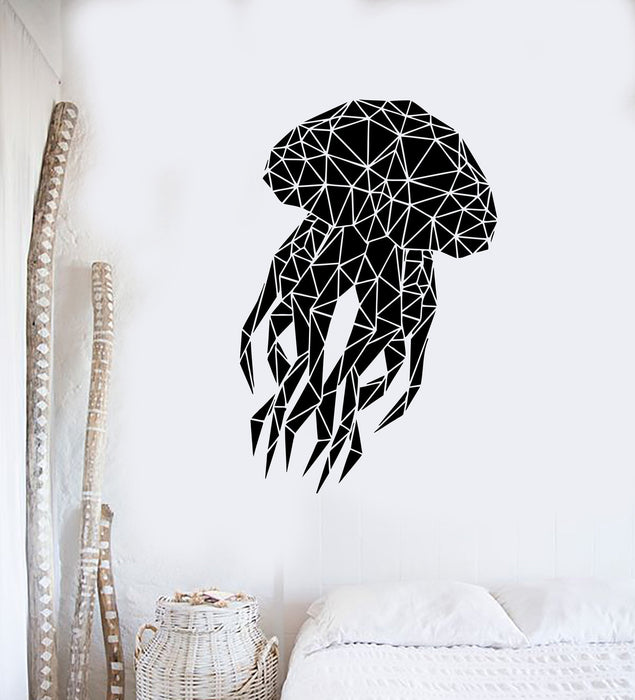 Vinyl Wall Decal Abstract Jellyfish Marine Animals Room Decor Stickers Unique Gift (ig3505)
