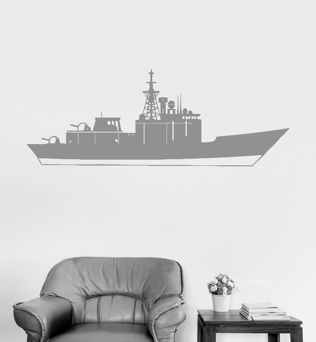 Vinyl Wall Decal Aircraft Carrier USS War Warship Military Ship Kids Room Stickers Unique Gift (ig3023)