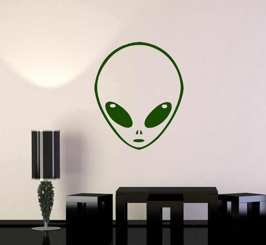 Vinyl Wall Decal Extraterrestrial UFO Alien For Kids Room Stickers Mural Unique Gift (ig1387)