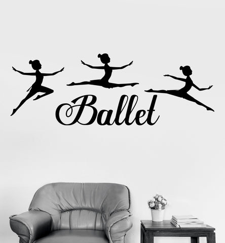 Vinyl wall decal ballet dancing girls dance room stickers art mural unique gift ig3471