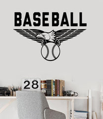 Vinyl Wall Decal Baseball Sports Fan Ball Eagle Mascot Stickers Mural Unique Gift (ig3435)