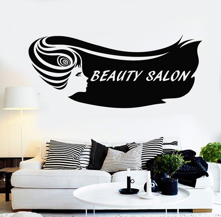 Peachy Vinyl Wall Decal Beauty Salon Hair Woman Girl Barbershop Stylist Stickers Unique Gift 116Ig Download Free Architecture Designs Scobabritishbridgeorg