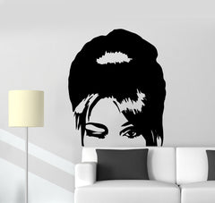 Vinyl Wall Decal Beautiful Woman Hair Salon Beauty Stickers Mural Unique Gift (ig3811)