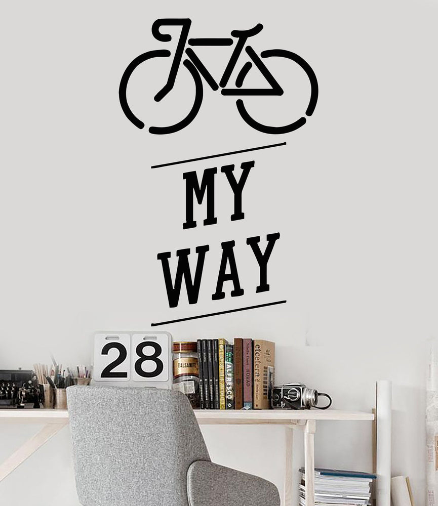 Vinyl Wall Decal Bike Bicycle Teen Art Quote Teenager Stickers