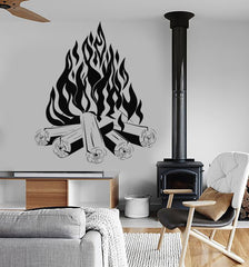 Vinyl Wall Decal Bonfire Campfire Camping Fire Fireplace Stickers (ig3817)