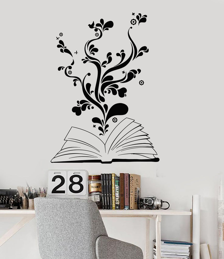 Vinyl Wall Decal Book Bookworm Library Bookstore School Stickers Unique Gift (ig2945)
