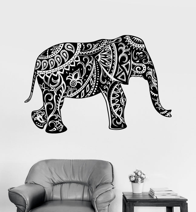 Vinyl Wall Decal Elephant Ornament Animal Tribal Decor Stickers Unique Gift (ig3534)