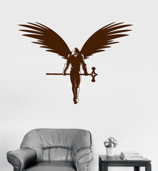 Vinyl Wall Decal Angel Warrior Fantasy Myth Art Kids Room Stickers Unique Gift (ig3017)