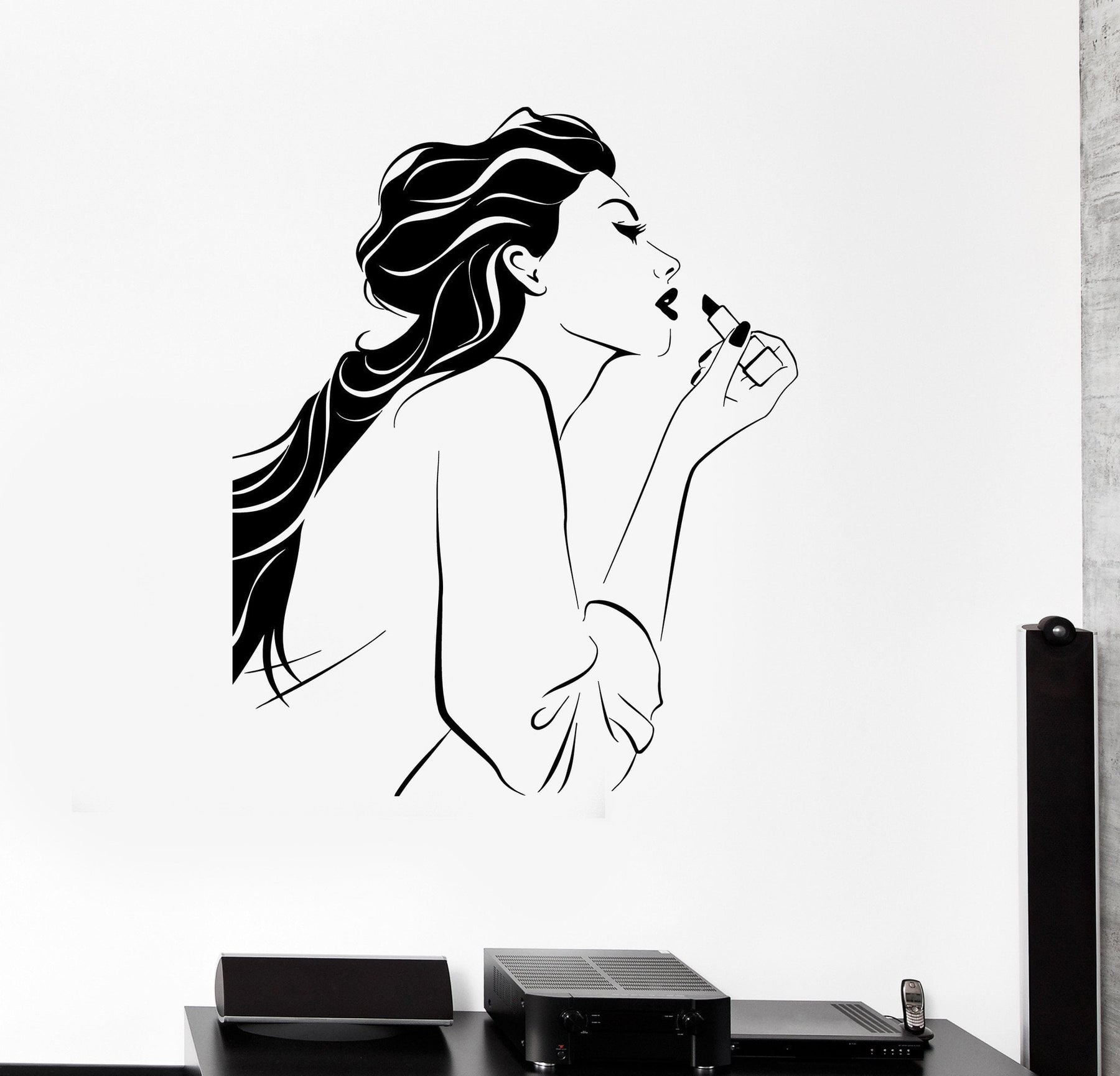 Vinyl Decal Cosmetic Beauty Salon Makeup Stylist Girl Room Wall Stickers Unique Gift (ig2646)