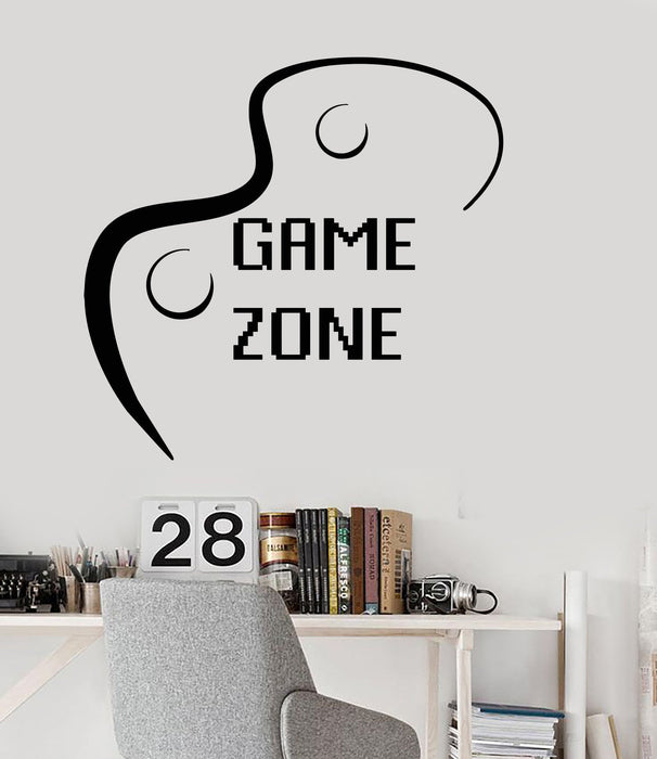 Wall Decal Game Zone Joystick Video Game Play Room Vinyl Stickers Unique Gift (ig3001)