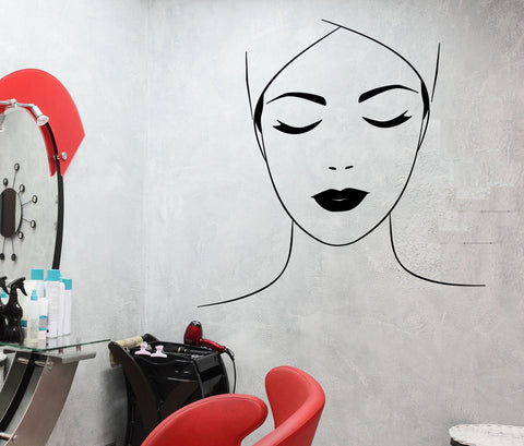 Beauty hair salon wall vinyl decal wallstickers4you for Stickers design salon