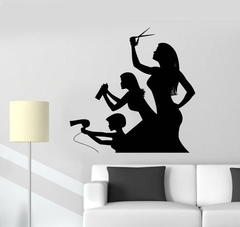 Beauty hair salon wall vinyl decal page 2 wallstickers4you for Stickers salon design