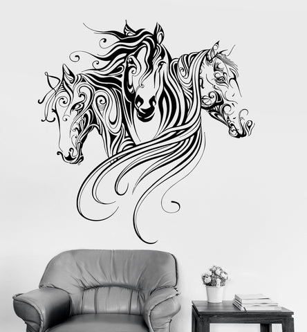 Vinyl Wall Decal Horses Animal Patterns Room Decoration Stickers Mural Unique Gift (ig3379)