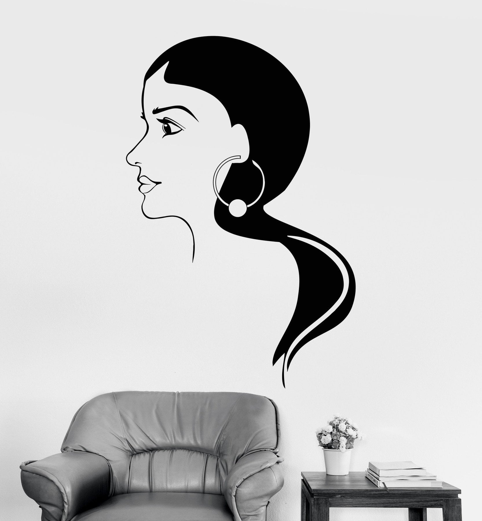 Vinyl Wall Decal India Beauty Beautiful Women Stickers Mural Unique Gift Ig3626
